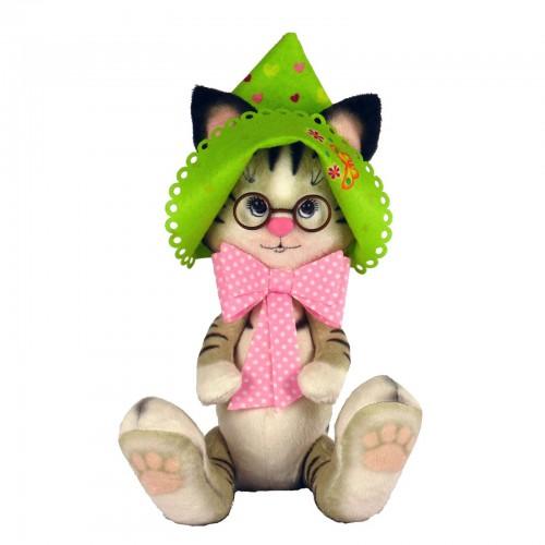 """Набор для шитья мягкой игрушки """"Кошечка в панамке"""""""