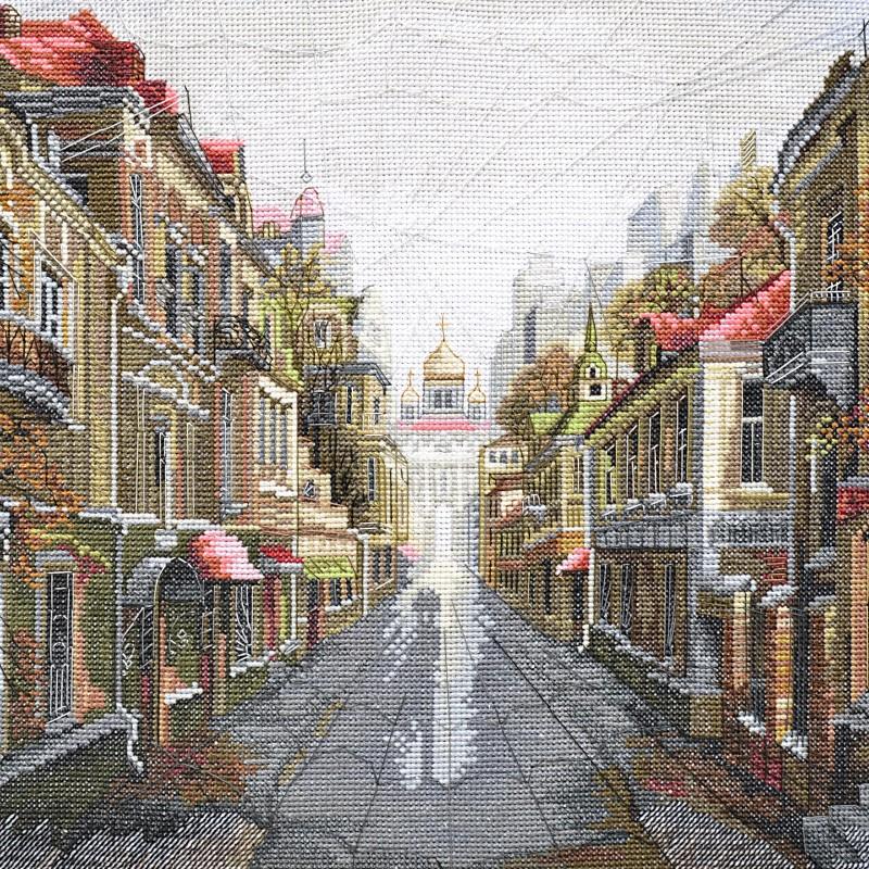 """Nova Sloboda - Набір для вишивки нитками на білій канві """"Місто для двох"""" / фото №43"""