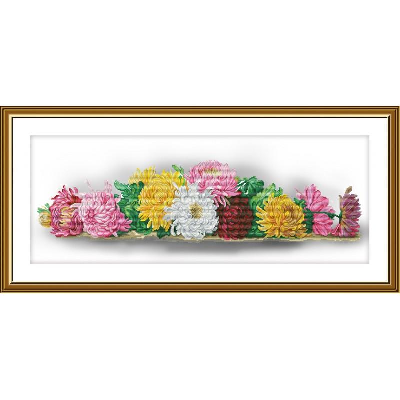 """Набор для вышивки нитками на канве с фоновым изображением """"Запах осени"""""""