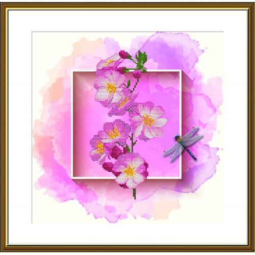 """Набір для вишивки нитками на канві з фоновим зображенням """"Фруктовий сад. Вишня"""""""