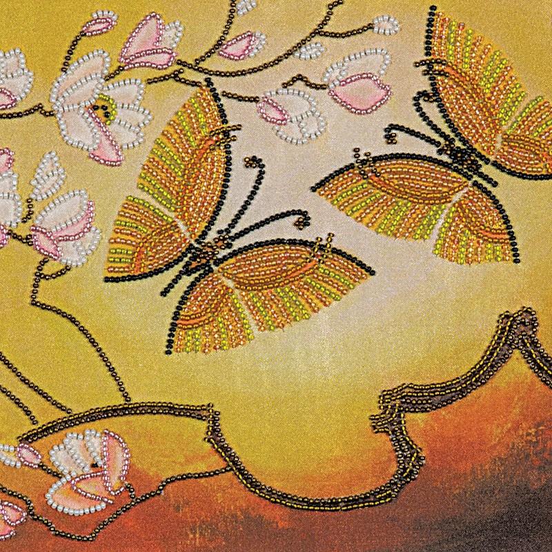 """Nova Sloboda - Набір для вишивки бісером """"Пурхання метеликів"""" / фото №480"""