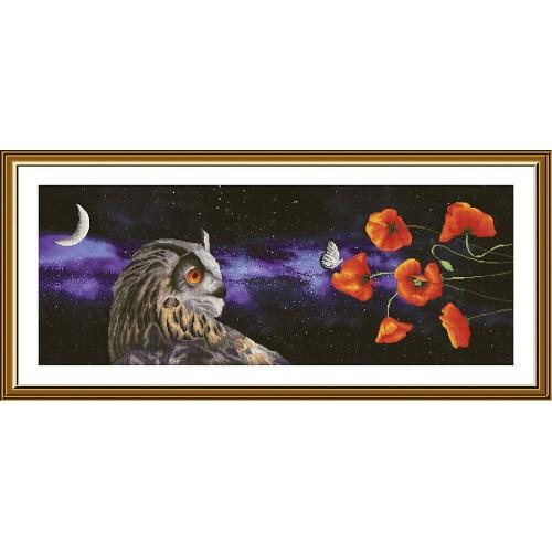 """Набор для вышивки нитками на канве с фоновым изображением """"Сон бабочки"""""""