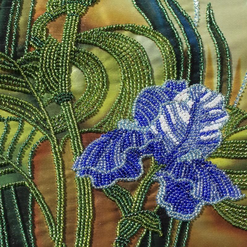 """Nova Sloboda - Набір для вишивки бісером """"Блакитні іриси"""" / фото №490"""