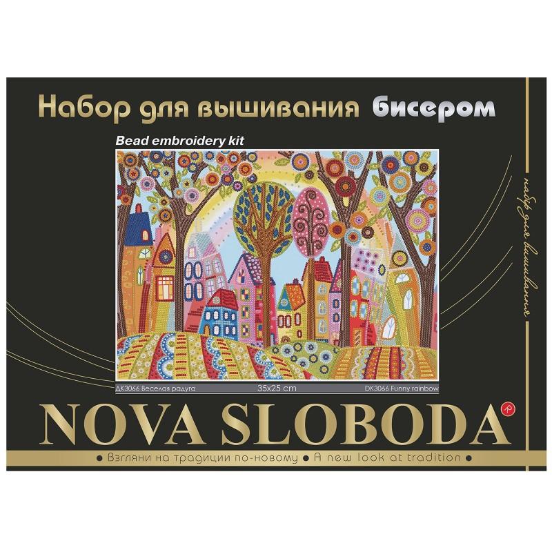 """Nova Sloboda - Набір для вишивки бісером """"Радісна веселка"""" / фото №492"""