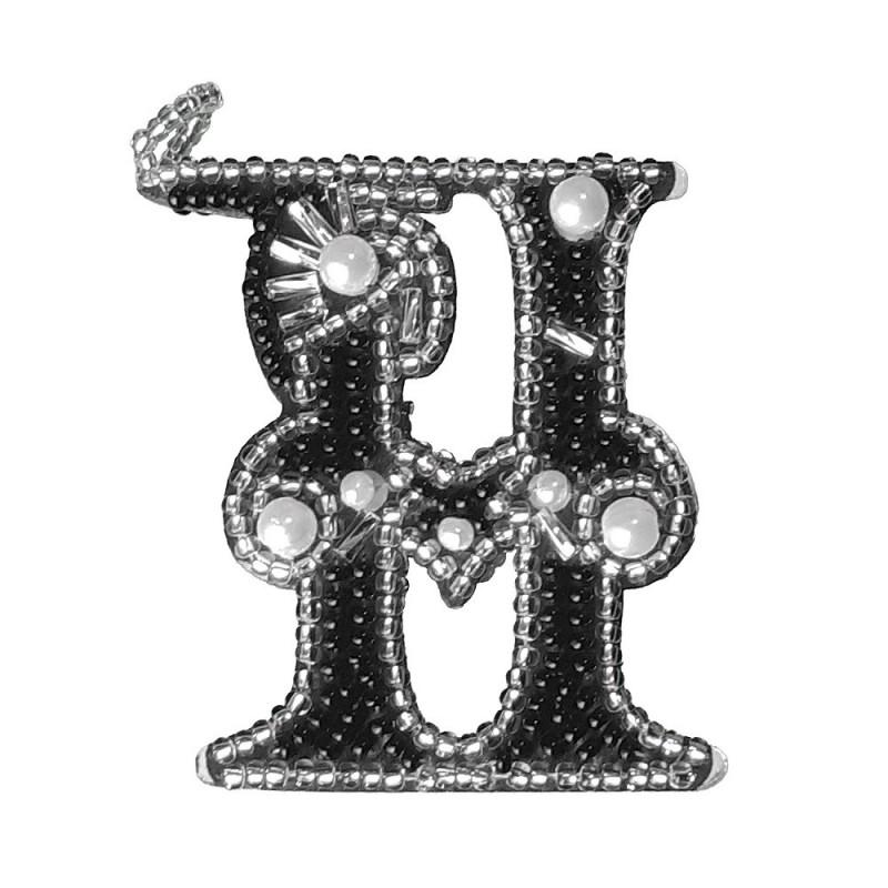 """Nova Sloboda - Набор для вышивки двусторонней подвески """"Буква Н"""" / фото №4943"""