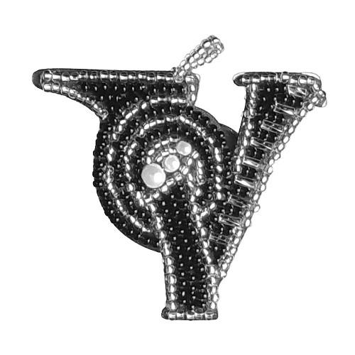 """Набор для вышивки двусторонней подвески """"Буква V"""""""
