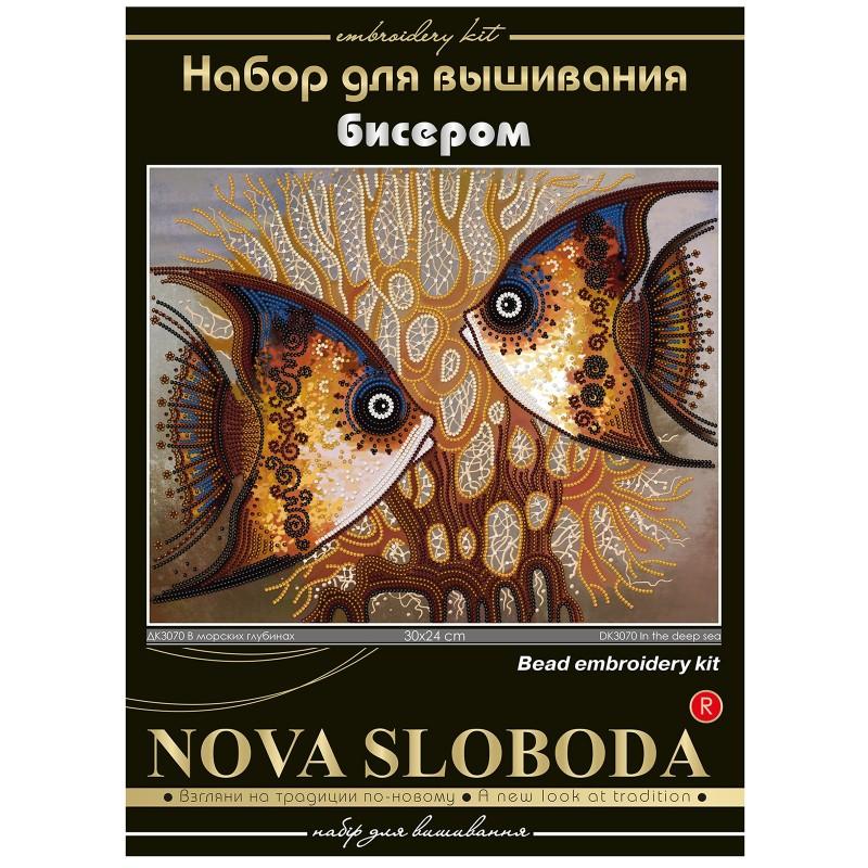 """Nova Sloboda - Набір для вишивки бісером """"У морських глибинах"""" / фото №501"""