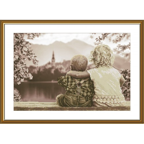 """Набор для вышивки нитками на канве с фоновым изображением """"Младший брат"""""""