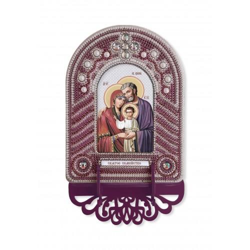"""Набор для создания иконы с вышитой рамкой-киотом """"Святое семейство"""""""