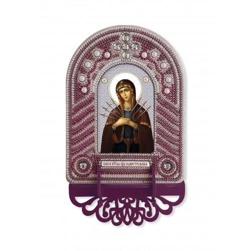 """Набор для создания иконы с вышитой рамкой-киотом """"Богородица Семистрельная"""""""