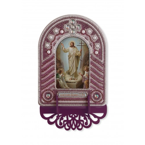 """Набор для создания иконы с вышитой рамкой-киотом """"Воскресение Господа Иисуса Христа"""""""