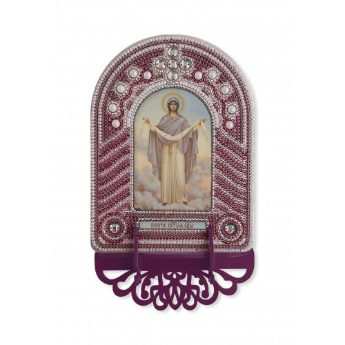 """Набор для создания иконы с вышитой рамкой-киотом """"Покров Пресвятой Богородицы"""""""
