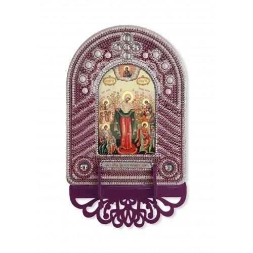 """Набор для создания иконы с вышитой рамкой-киотом """"Богородица Всех Скорбящих Радость"""""""