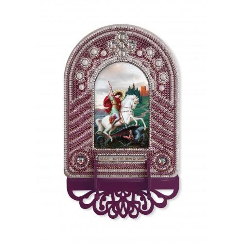 """Набор для создания иконы с вышитой рамкой-киотом """"Св. Георгий Победоносец"""""""