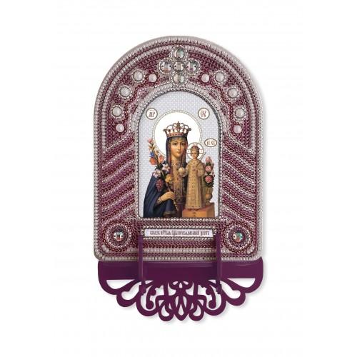 """Набор для создания иконы с вышитой рамкой-киотом """"Богородица Неувядаемый цвет"""""""