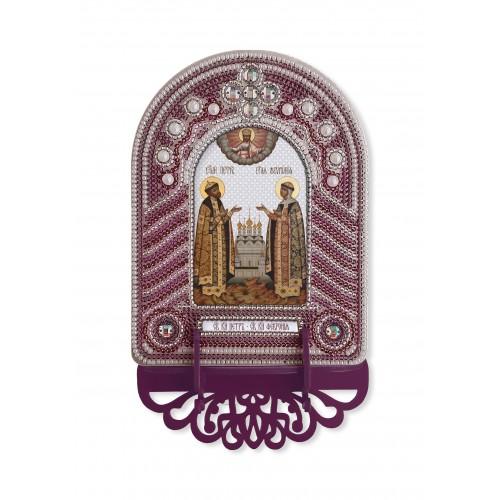 """Набор для создания иконы с вышитой рамкой-киотом """"Святые Пётр и Февронья"""""""
