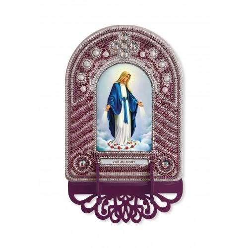 """Набор для создания иконы с вышитой рамкой-киотом """"Virgin Mary"""""""