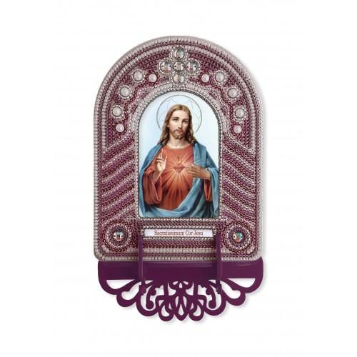 """Набор для создания иконы с вышитой рамкой-киотом """"Святейшее Сердце Иисуса"""""""