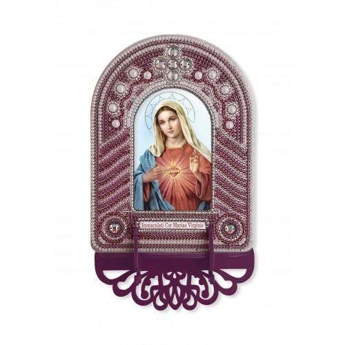 """Набор для создания иконы с вышитой рамкой-киотом """"Непорочное Сердце Марии"""""""