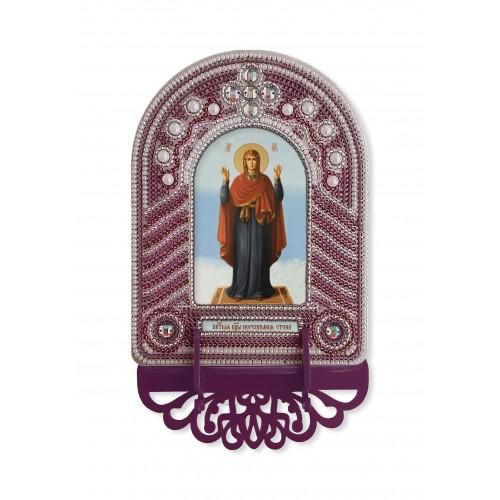 """Набор для создания иконы с вышитой рамкой-киотом """"Богородица Нерушимая Стена"""""""