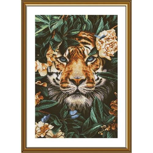 """Набор для вышивки нитками на белой канве """"Рай диких джунглей"""""""