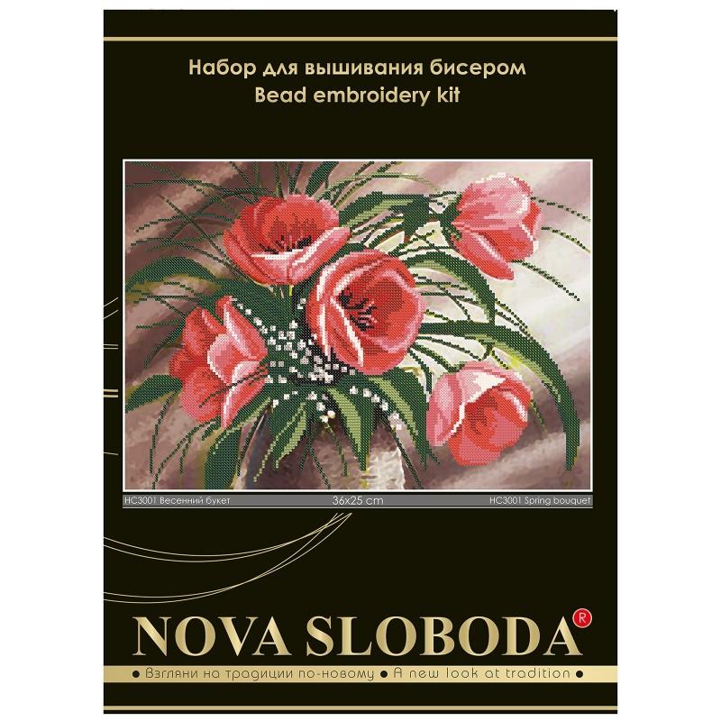 """Nova Sloboda - Набір для вишивки бісером """"Весняний букет"""" / фото №612"""
