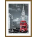 """Набор для вышивки нитками на канве с фоновым изображением """"Лондон"""""""