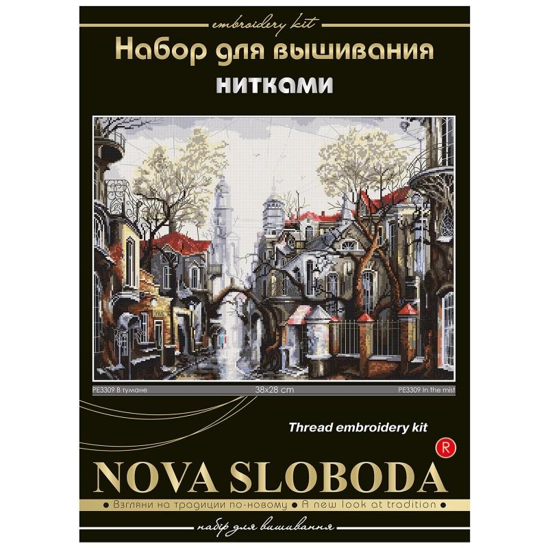 """Nova Sloboda - Набір для вишивки нитками на білій канві """"У тумані"""" / фото №64"""
