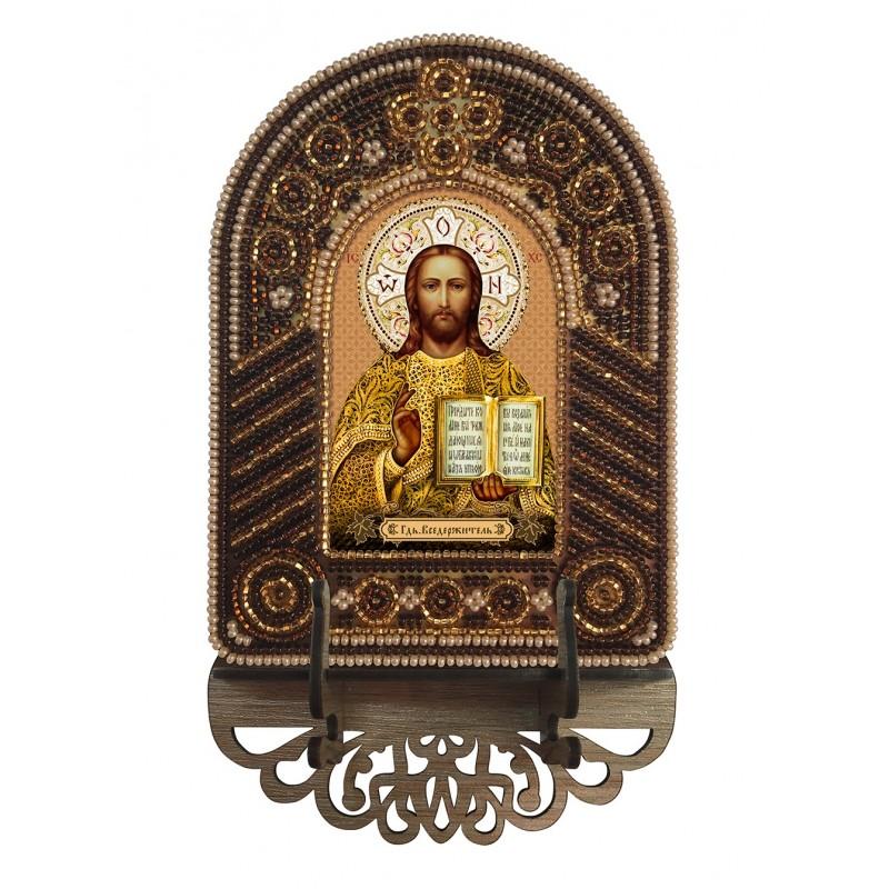 """Nova Sloboda - Набор для создания иконы с вышитой рамкой-киотом """"Господь Вседержитель"""" / фото №6599"""