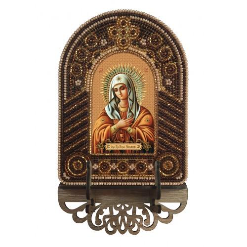 """Набор для создания иконы с вышитой рамкой-киотом """"Богородица Умиление"""""""