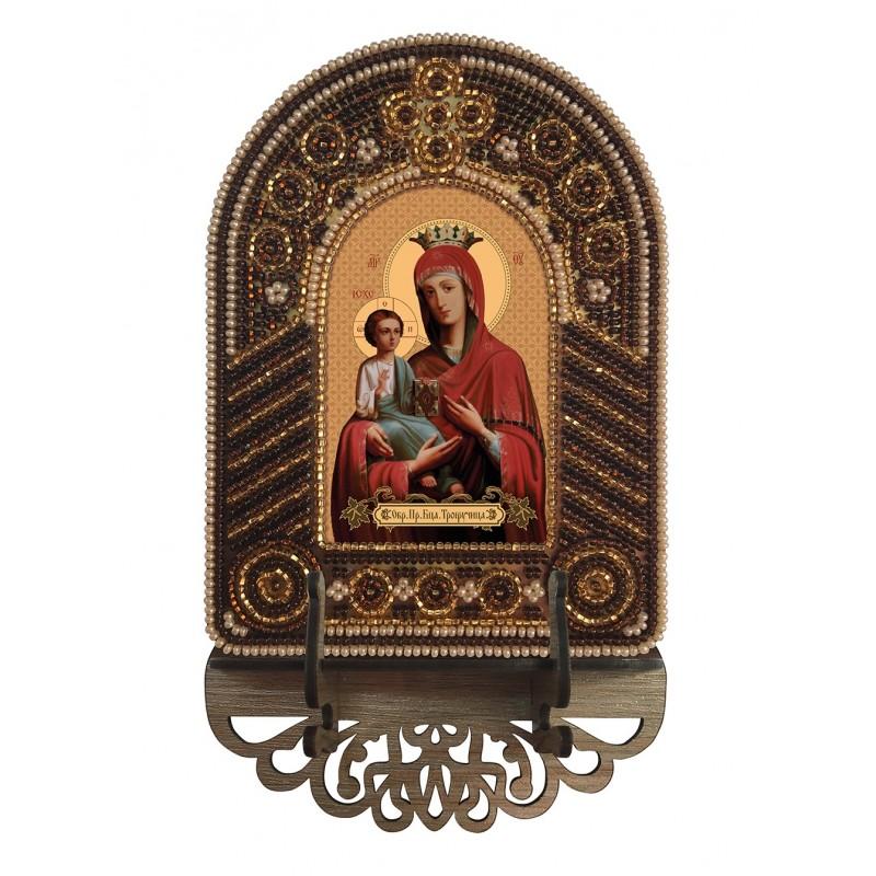 """Nova Sloboda - Набор для создания иконы с вышитой рамкой-киотом """"Богородица Троеручица"""" / фото №6613"""