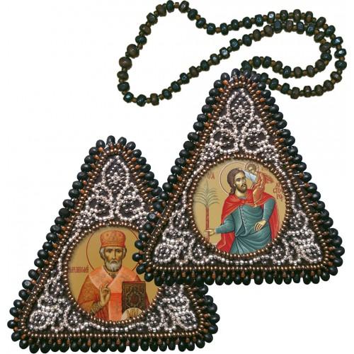 """Набор для вышивания двухсторонней иконы """"Св. Христофор и Николай Чудотворец"""""""