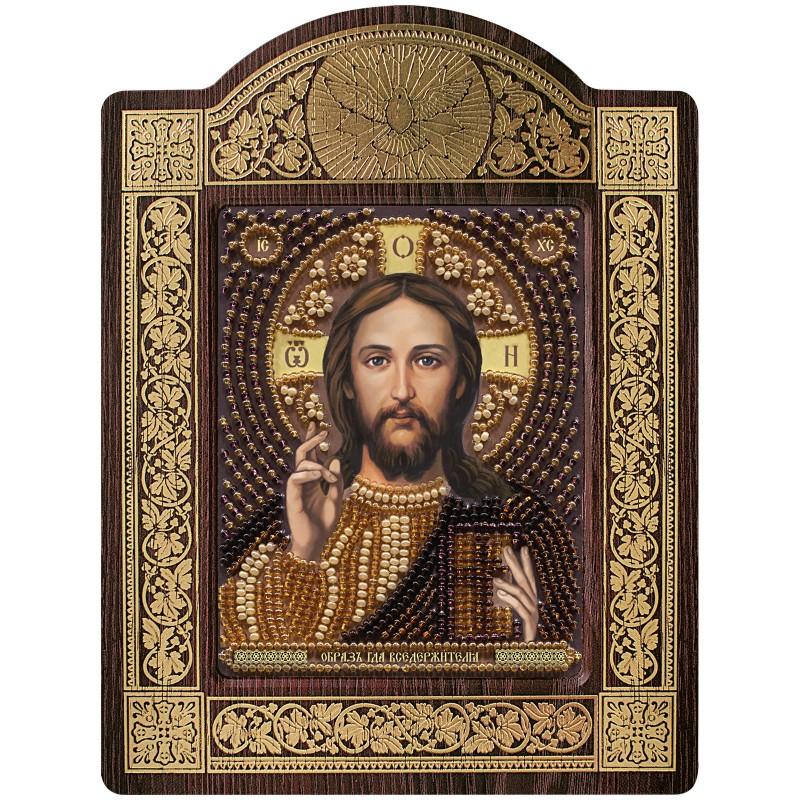 """Nova Sloboda - набір для вишивки ікони в рамці-кіоті """"Христос Спаситель"""" / фото №667"""