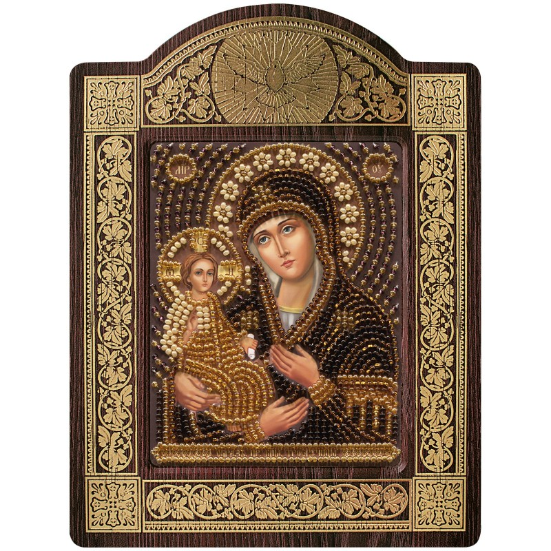 """Nova Sloboda - набір для вишивки ікони в рамці-кіоті """"Ікона Прсв. Богородиці «Богородиця «Троєручиця» / фото №674"""