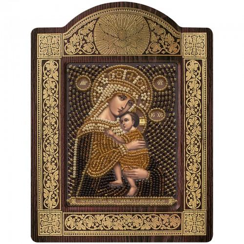 """Набор для вышивки икон в рамке-киоте """"Образ Прсв. Богородицы """"Отчаянных Единая Надежда"""""""