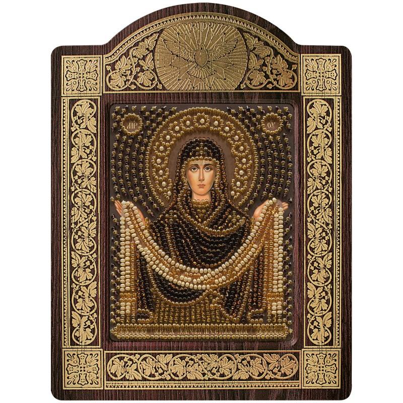 """Nova Sloboda - набір для вишивки ікони в рамці-кіоті """"Ікона Прсв. Богородиці «Покров Пресвятої Богородиці» / фото №680"""