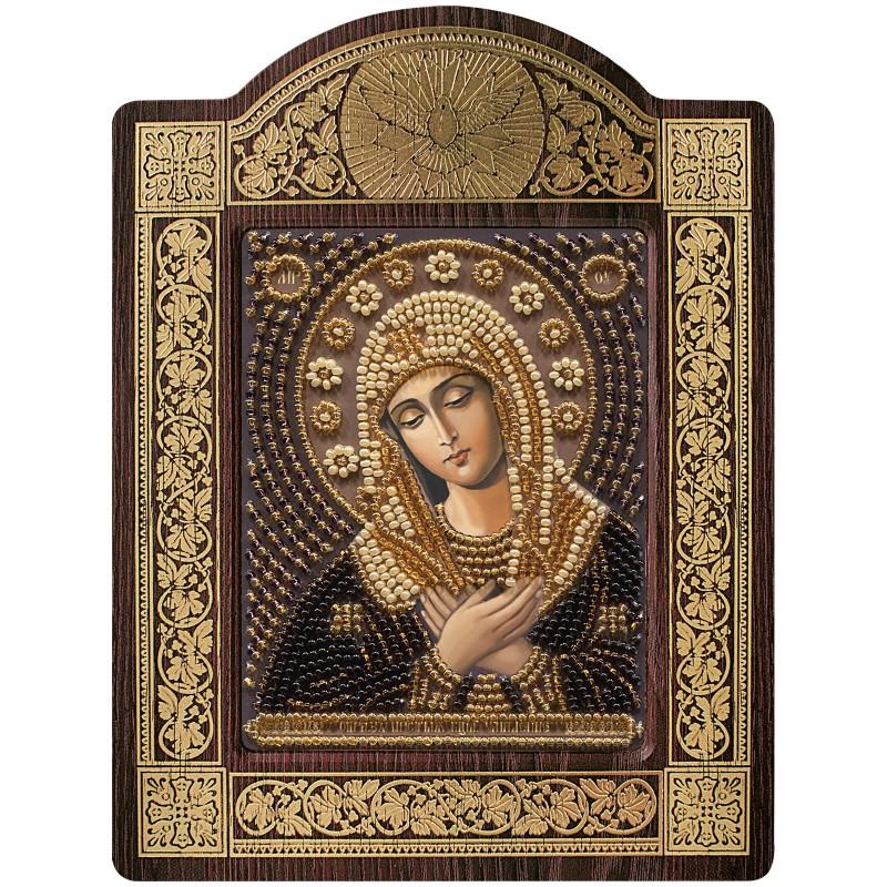 """набір для вишивки ікони в рамці-кіоті """"Ікона Прсв. Богородиці «Богородиця «Розчулення»"""