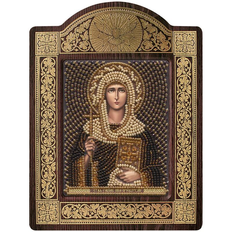 """набір для вишивки ікони в рамці-кіоті """"Св. Рівноап. Ніна просвіт. Грузії"""""""