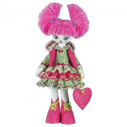 """Набор для шитья куклы на льняной основе. Текстильная кукла """"Милашка"""""""