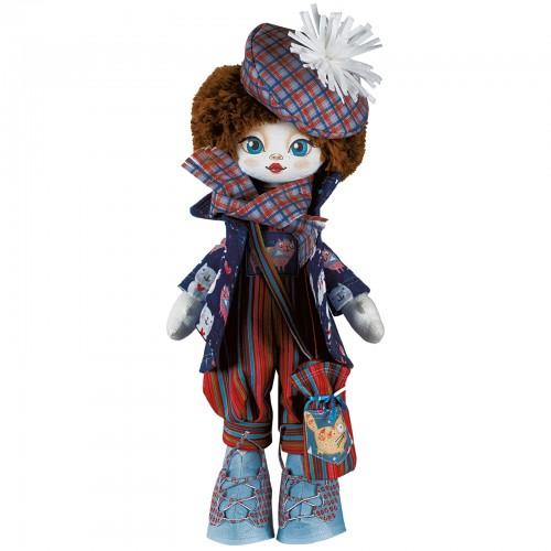 """Набор для шитья куклы на льняной основе. Текстильная кукла """"Актриса"""""""