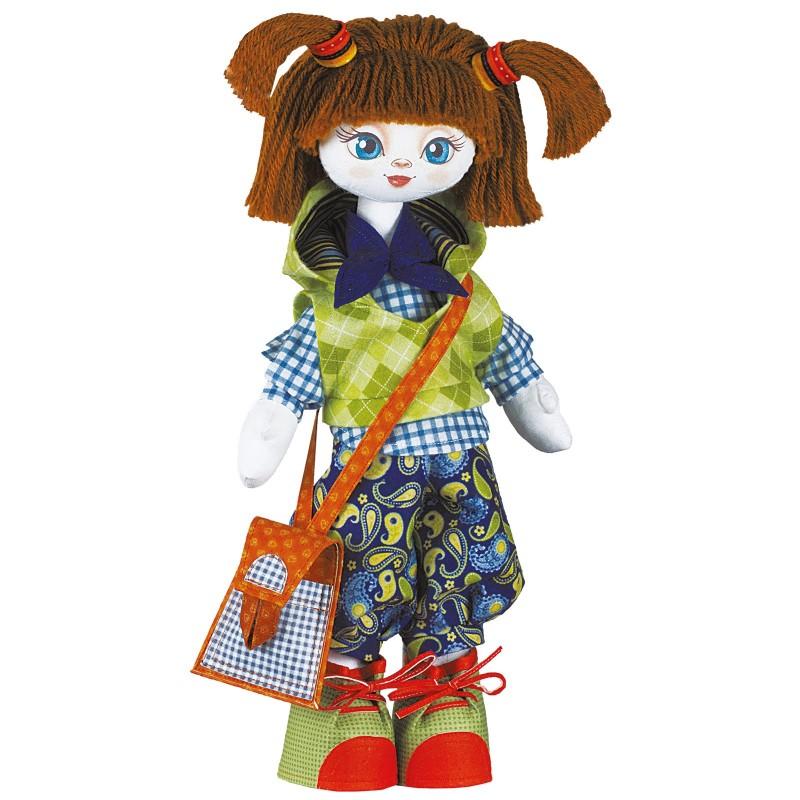 """Набiр для шиття ляльки на льняній основі Текстильна лялька """"Відмінниця"""""""