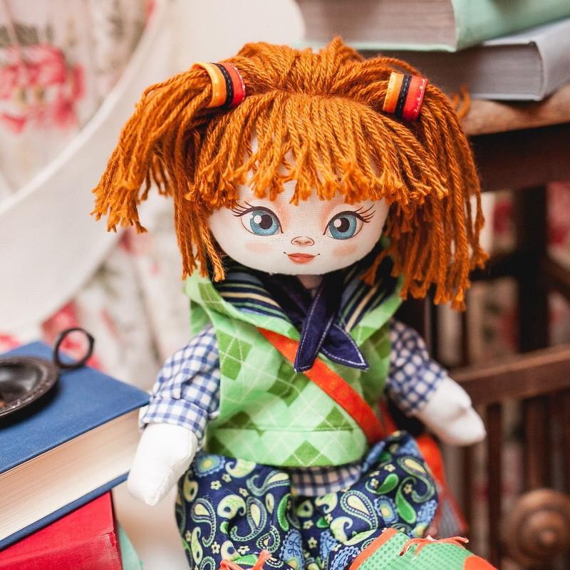 """Nova Sloboda - Набiр для шиття ляльки на льняній основі Текстильна лялька """"Відмінниця"""" / фото №719"""