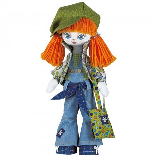"""Набор для шитья куклы на льняной основе. Текстильная кукла """"Модница"""""""