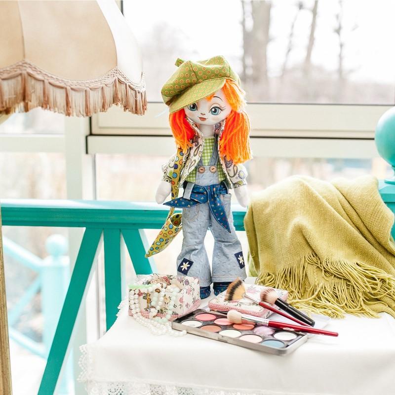 """Nova Sloboda - Набiр для шиття ляльки на льняній основі -Текстильна лялька """"Модниця"""" / фото №725"""