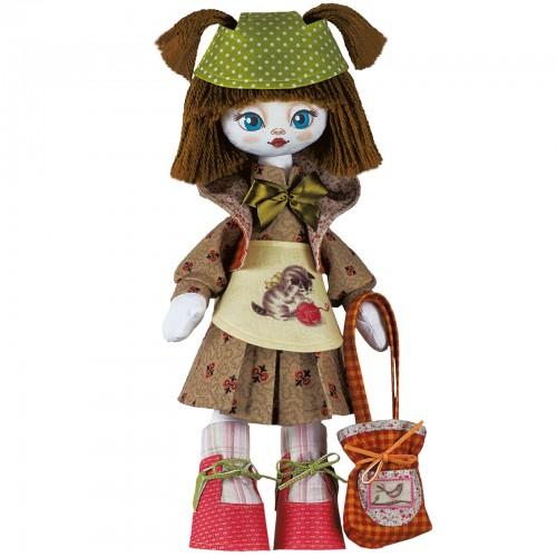 """Набiр для шиття ляльки на льняній основі - Текстильна лялька """"Рукодільниця"""""""