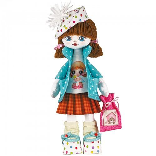 """Набор для шитья куклы на льняной основе. Текстильная кукла """"Именинница"""""""