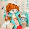 """Набiр для шиття ляльки на льняній основі - Текстильна лялька """"Іменинниця"""""""