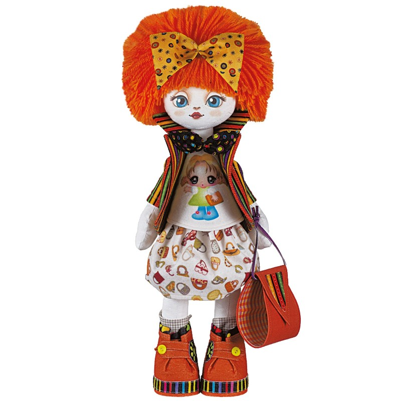 """Набiр для шиття ляльки на льняній основі - Текстильна лялька """"Подружка"""""""