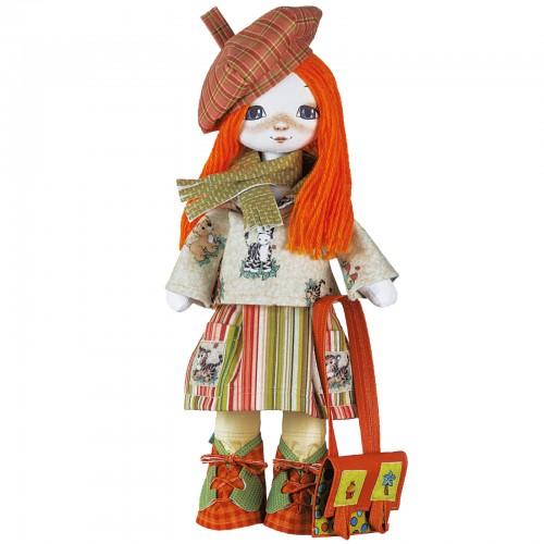 """Набор для шитья куклы на льняной основе. Текстильная кукла """"Путешественница"""""""