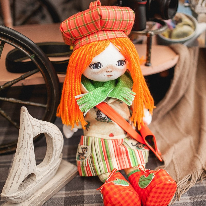 """Nova Sloboda - Набiр для шиття ляльки на льняній основі - Текстильна лялька """"Мандрівниця"""" / фото №765"""